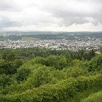 Uitzicht op Trier vanaf het terras.