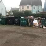 Rubbish piled up in car park