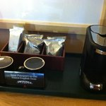 Free in-room coffee