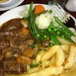 Beef with chips!