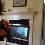 Roses and fireplace
