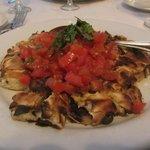 Italian burrito; mozzarella in pizza dough baked in the pizza oven.