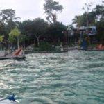 Los Aluxes desde la laguna de Bacalar