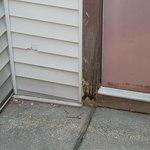 Rotten door trim