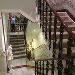 mirrored stairwell