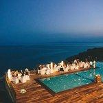 Wedding night - pool view