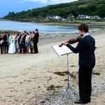 Our wedding on the beach at Darven