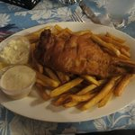 Haddock fish and chips
