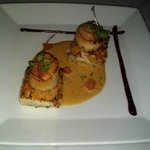 Seared Scallops on Risotto Cakes