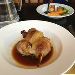 Roasted Confit of Gressingham Duck Leg with bubble and Squeak & Apple and Sage sauce