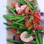 GOONG PHAD NOR MAI FARANG - Stir-Fried Asparagus with Shrimps