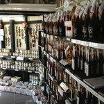 Inside the shopfront