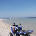 quad bike on beach