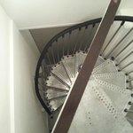Narrow staircase