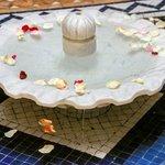 Fontaine dans le patio