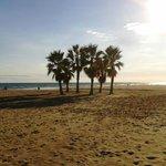 Atardecer en la playa de Coma-ruga