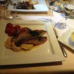 Filet vom Loup de mer (Wolfsbarsch) an Limoncellosauce