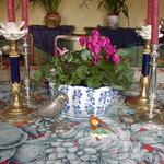 Villa la Chiusa- having a dinner....
