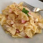 pasta with cream, bacon and white wine