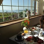 traditional Irish breakfast with a great view