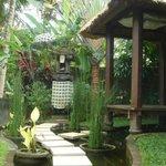 Pond / meditation area