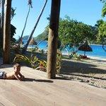 View from 2bedroom beachfront villa