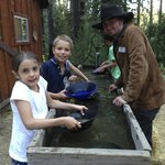Panning for gold - kids loved it, helpful staff