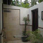 Outdoor shower master bedroom