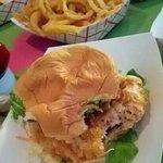lobster tempura burger