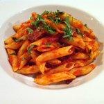 Chorizo, tomato & basil penne pasta