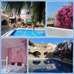 Onze slaapkamer en de mooie tuin met zwembad van Atalos Villas