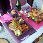 Pavé d'andouille et  Salade du Chef