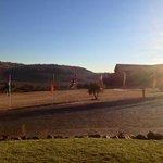 Panorama al mattino presto dal retro della camera 103