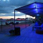 Bisera Hotel beach in the evening