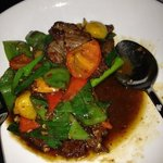 organic beef wok fried with capsicum and cumin
