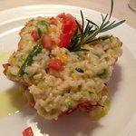 Risotto in crosta di parmigiano con verdure