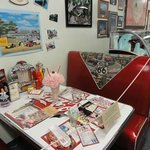 Booth from an old diner. Have your picture taken here.