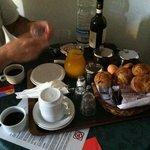 breakfast in our room.