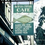 The original sign for the Bitter Creek Cafe