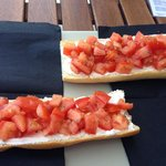 Bruschetta for one at Altameara