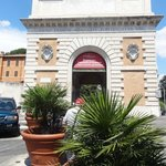 The Roman arch which houses the Garibaldi Museum