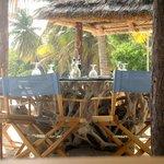 Tables at the beach bar