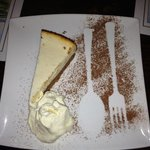 lime cheesecake - great presentation!