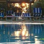 Tramonto sulle piscine.