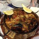 la paella pour 2 du menu a 9€