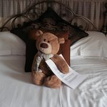 Teddy on the bed