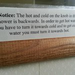 "Backwards ""hot"" and ""cold"" sign"