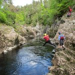 Cliff Jumping on the Findhorn with Ace Adventures!