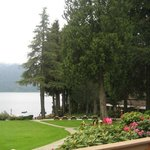 View of Lake Quinault from lodge deck