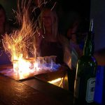 Absinthe on fire shots!